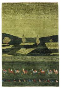 Gabbeh Persia Teppe 104X150 Ekte Moderne Håndknyttet Mørk Grønn/Olivengrønn (Ull, Persia/Iran)
