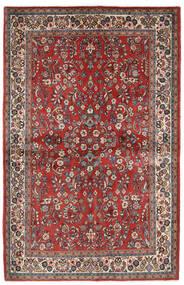 Sarough Teppe 132X206 Ekte Orientalsk Håndknyttet Mørk Rød/Beige (Ull, Persia/Iran)