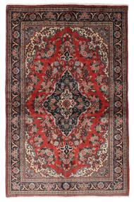 Ghom Kork/Silke Teppe 139X212 Ekte Orientalsk Håndknyttet Mørk Rød/Svart (Ull/Silke, Persia/Iran)