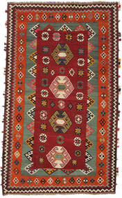 Kelim Vintage Teppe 146X251 Ekte Orientalsk Håndvevd Mørk Rød/Mørk Brun (Ull, Persia/Iran)