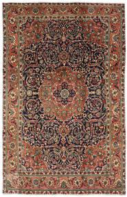 Tabriz Teppe 196X308 Ekte Orientalsk Håndknyttet Mørk Brun/Mørk Grå (Ull, Persia/Iran)