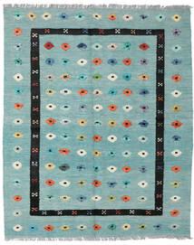 Kelim Nimbaft Teppe 157X200 Ekte Moderne Håndvevd Pastell Grønn/Turkis Blå (Ull, Afghanistan)