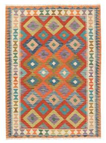 Kelim Afghan Old Style Teppe 122X171 Ekte Orientalsk Håndvevd Beige/Rød (Ull, Afghanistan)