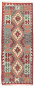 Kelim Afghan Old Style Teppe 74X191 Ekte Orientalsk Håndvevd Teppeløpere Mørk Grå/Lys Grå (Ull, Afghanistan)
