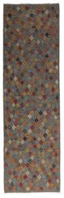 Kelim Afghan Old Style Teppe 88X295 Ekte Orientalsk Håndvevd Teppeløpere Svart/Mørk Brun (Ull, Afghanistan)