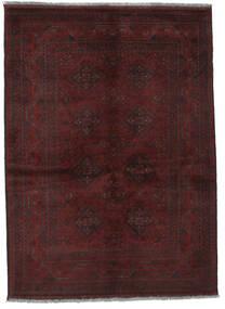 Afghan Khal Mohammadi Teppe 131X178 Ekte Orientalsk Håndknyttet Svart (Ull, Afghanistan)