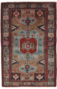 Hamadan Teppe 132X205 Ekte Orientalsk Håndknyttet Svart/Mørk Brun (Ull, Persia/Iran)