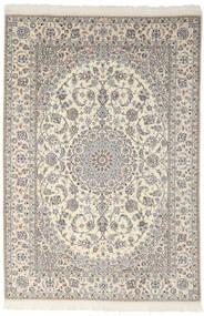 Nain 9La Teppe 200X301 Ekte Orientalsk Håndknyttet Mørk Grå/Lys Grå (Ull/Silke, Persia/Iran)