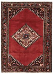 Hamadan Teppe 119X168 Ekte Orientalsk Håndknyttet Svart/Mørk Rød/Mørk Brun (Ull, Persia/Iran)