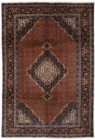 Ardebil Teppe 201X290 Ekte Orientalsk Håndknyttet Svart/Mørk Brun (Ull, Persia/Iran)