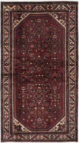 Hamadan Teppe 108X198 Ekte Orientalsk Håndknyttet Svart/Mørk Brun (Ull, Persia/Iran)