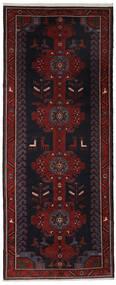 Hamadan Teppe 157X390 Ekte Orientalsk Håndknyttet Teppeløpere Svart (Ull, Persia/Iran)