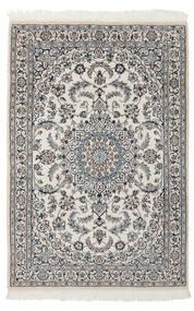 Nain 9La Teppe 116X176 Ekte Orientalsk Håndknyttet Lys Grå/Mørk Grå (Ull/Silke, Persia/Iran)