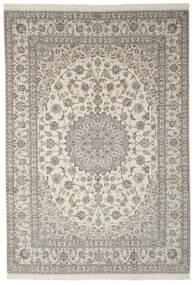 Nain 9La Teppe 250X355 Ekte Orientalsk Håndknyttet Mørk Grå/Lys Grå Stort (Ull/Silke, Persia/Iran)