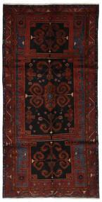 Hamadan Teppe 145X290 Ekte Orientalsk Håndknyttet Teppeløpere Svart (Ull, Persia/Iran)