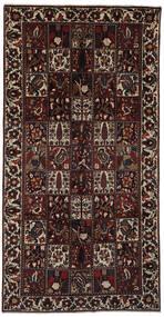 Bakhtiar Teppe 158X308 Ekte Orientalsk Håndknyttet Teppeløpere Svart/Mørk Brun (Ull, Persia/Iran)