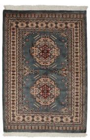 Pakistan Bokhara 2Ply Teppe 130X190 Ekte Orientalsk Håndknyttet Svart/Mørk Brun (Ull, Pakistan)