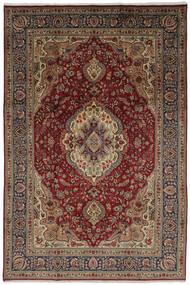 Tabriz Teppe 206X304 Ekte Orientalsk Håndknyttet Mørk Brun/Svart (Ull, Persia/Iran)