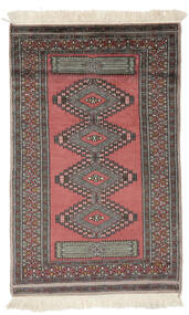 Pakistan Bokhara 3Ply Teppe 82X127 Ekte Orientalsk Håndknyttet Mørk Rød/Svart (Ull, Pakistan)