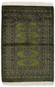 Pakistan Bokhara 3Ply Teppe 99X145 Ekte Orientalsk Håndknyttet Svart/Mørk Grønn (Ull, Pakistan)