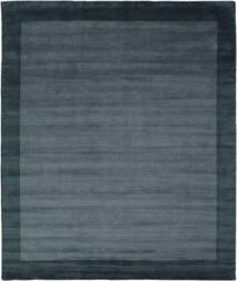 Handloom Frame - Petrol Blå Teppe 250X300 Moderne Svart/Mørk Blå Stort (Ull, India)