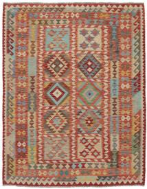 Kelim Afghan Old Style Teppe 170X205 Ekte Orientalsk Håndvevd Mørk Brun/Brun (Ull, Afghanistan)