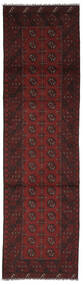 Afghan Teppe 80X295 Ekte Orientalsk Håndknyttet Teppeløpere Svart (Ull, Afghanistan)