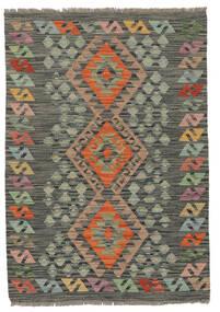 Kelim Afghan Old Style Teppe 86X123 Ekte Orientalsk Håndvevd Mørk Grønn/Svart (Ull, Afghanistan)