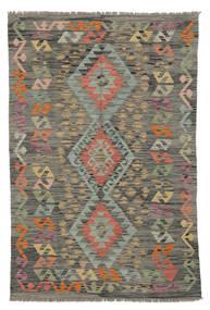 Kelim Afghan Old Style Teppe 101X149 Ekte Orientalsk Håndvevd Mørk Grønn/Mørk Brun (Ull, Afghanistan)