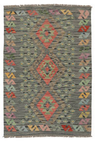 Kelim Afghan Old Style Teppe 85X125 Ekte Orientalsk Håndvevd Mørk Grønn/Mørk Brun (Ull, Afghanistan)