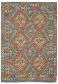 Kelim Afghan Old Style Teppe 153X215 Ekte Orientalsk Håndvevd Mørk Grønn/Mørk Brun (Ull, Afghanistan)