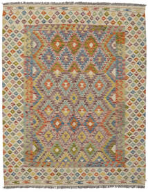 Kelim Afghan Old Style Teppe 160X203 Ekte Orientalsk Håndvevd Mørk Brun/Brun (Ull, Afghanistan)