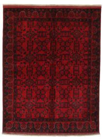 Afghan Khal Mohammadi Teppe 154X196 Ekte Orientalsk Håndknyttet Svart/Mørk Rød (Ull, Afghanistan)