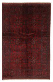Afghan Khal Mohammadi Teppe 128X195 Ekte Orientalsk Håndknyttet Svart/Beige (Ull, Afghanistan)