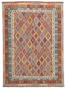Kelim Afghan Old Style Teppe 280X370 Ekte Orientalsk Håndvevd Mørk Brun Stort (Ull, Afghanistan)