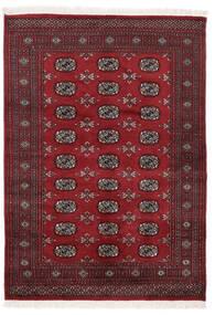 Pakistan Bokhara 3Ply Teppe 140X197 Ekte Orientalsk Håndknyttet Svart/Mørk Rød (Ull, Pakistan)