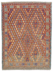 Kelim Afghan Old Style Teppe 155X197 Ekte Orientalsk Håndvevd Mørk Brun/Mørk Grå (Ull, Afghanistan)