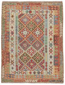 Kelim Afghan Old Style Teppe 153X193 Ekte Orientalsk Håndvevd Mørk Brun/Mørk Grønn (Ull, Afghanistan)