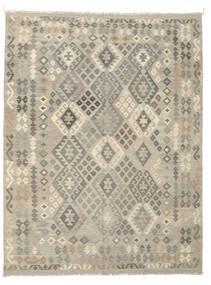 Kelim Afghan Old Style Teppe 191X249 Ekte Orientalsk Håndvevd Mørk Grå/Olivengrønn (Ull, Afghanistan)