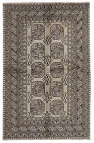 Afghan Teppe 158X247 Ekte Orientalsk Håndknyttet Svart/Mørk Grå (Ull, Afghanistan)