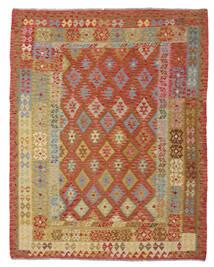 Kelim Afghan Old Style Teppe 193X245 Ekte Orientalsk Håndvevd Brun/Mørk Rød (Ull, Afghanistan)