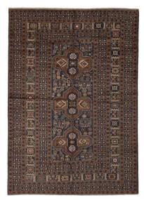 Beluch Teppe 200X285 Ekte Orientalsk Håndknyttet Svart/Mørk Brun (Ull, Afghanistan)