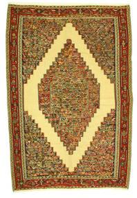 Kelim Senneh Teppe 198X292 Ekte Orientalsk Håndvevd (Ull, Persia/Iran)
